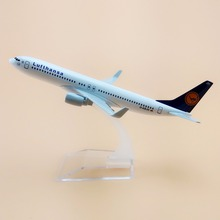16cm Alloy Metal German AIR Lufthansa B737 Airlines Boeing 737 800 Airways Airplane Model Plane Model W Stand Aircraft Gift(China)