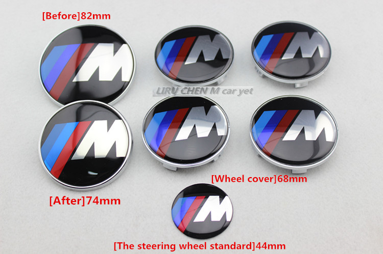 7*car badges car Emblems auto front hood emblem auto badge logo 82mm 74mm 68mm 45mm front rear wheel Steering badges for bmw(China (Mainland))