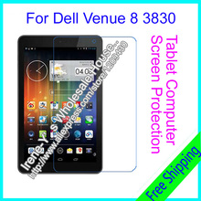 2pcs Clear Ultra Thin Smooth LCD Screen Protector For Dell Venue 8 V8 3830 8.0'' Tablet PC Protective Film + Package + Cloth