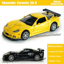 1:36 Scale Diecast Alloy Metal Car Model For Chevrolet Corvette C6-R Collection Model Pull Back Toys Car- Black/Yellow/Red/White(China)