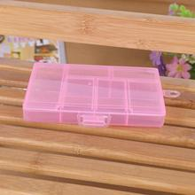 MAIOUMY Transparent Storage bubm cover organizer Case Box Holder Container Pills Jewelry Nail Art Tips 6 Grids(China)
