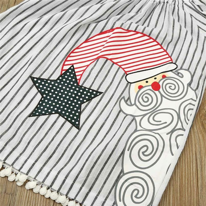 Christmas Clothes Girl Clothes Girls Dress Toddler Baby Kids Girls Santa Printed Striped Long Sleeve Princess Dress AU29#F (4)