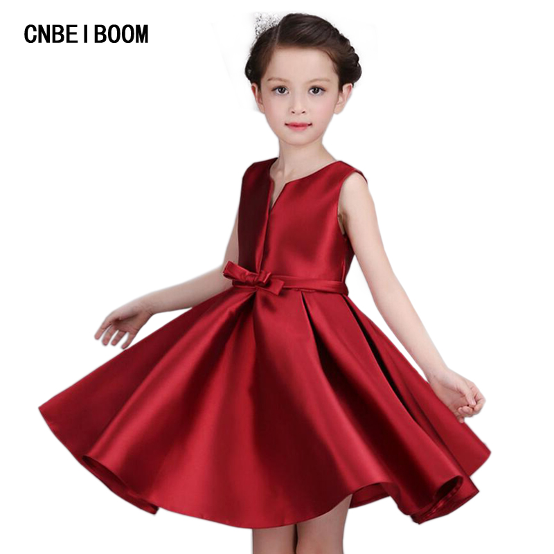 4-16T Brand Satin Girl Dress Red Sequin Princess High Quality Tutu Party Wedding Dresses for Sweet Kids Girls Dirthday Clothes<br><br>Aliexpress