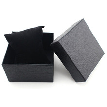 Fashion Girl's Present Gift Box Case Earrings Bracelet Bangle Jewelry Watch Box Black Litchi Textured(China)