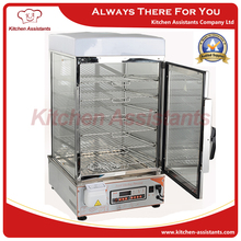 700L 7 layer Commercial Computer Control panel electric stainless steel glass commerical bun steamer hot dog food steamer