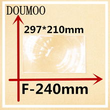 1 pcs rectangle Optical PMMA Plastic Car Parking Wide Angle Fresnel Lens Large 297*210 mm Focal Length -240 mm Minifier Lens(China)