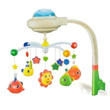 Free shipping Baby Music Toys Musical Mobile Babi Bed Bell Hanging Toy With Sky Star Projection