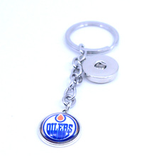 Ice Hockey Keychain NHL Edmonton Oilers Charm Key Chain Car Keyring for Women Men Party Birthday Keyrings Gifts New 2017