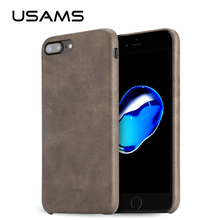 USAMS Case for iPhone 8 Bob Series 4.4 inch PU Leather Case for iphone 7 8 5.5 inch Phone Case for iPhone 7 8 Plus Back Cover(China)