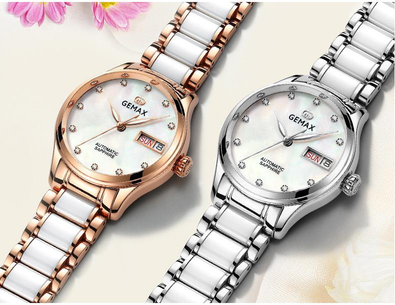 GEMAX Women Watches Waterproof Automatic Mechanical Watch Ladies Fashion Top Brand Diamond Calendar Ceramic Sapphire MIYOTA 2017 (8)
