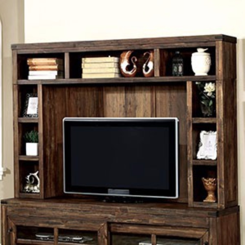 Commodious Wooden Hutch, Natural Brown