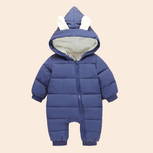 Winter Baby Rompers for Boys Girls Newborn Warm Coat Toddler Rompers Overall 8 Color Infant Jumpsuit Thick Cotton Baby Outfits(China)