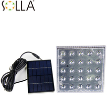 2016 25pcs  Portable Solar Lighting System Led Powered Light Work Time 7 Hours Solar Rechargeable Energy Led Bulb Solar Panels