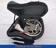 Silver Nickel Plated Double French Horn F/Bb 4 Keys With Case