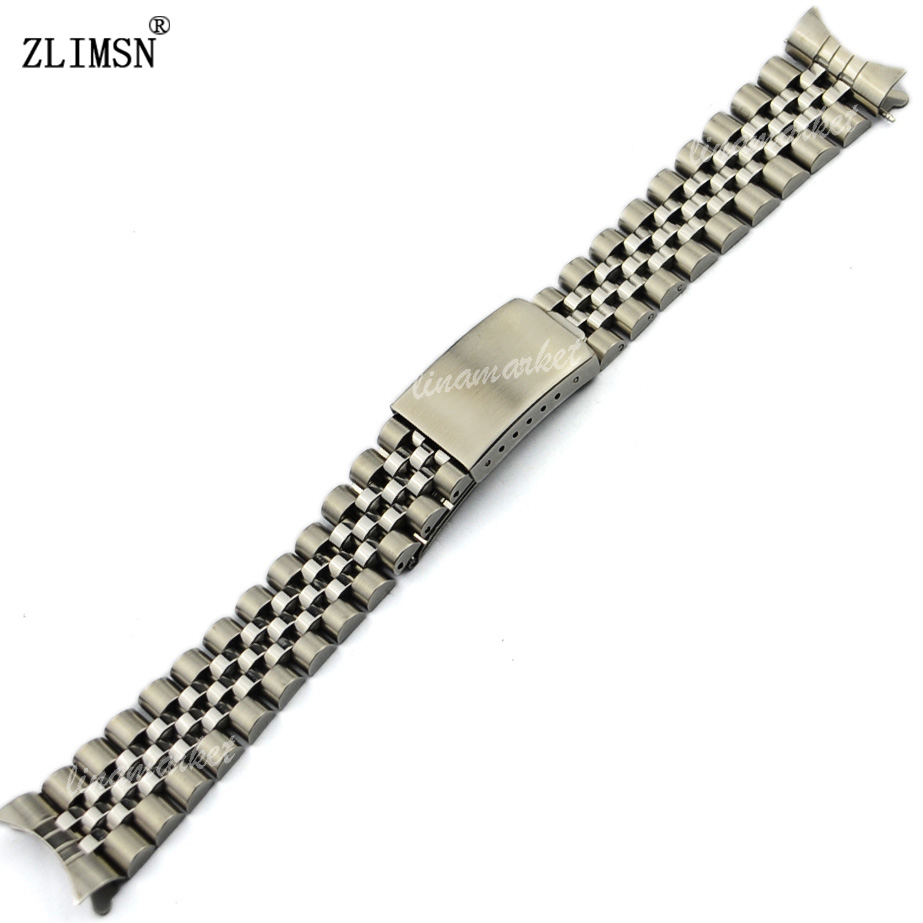 20mm Band Watch Men Watchbands Silver Stainless Steel Watch Band Bracelets Strap Curved end Watchband Relojes Hombre ROL203<br><br>Aliexpress
