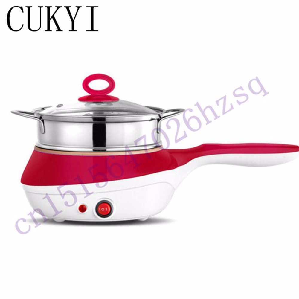 CUKYI 220V 50HZ Multifunctional Electric 7 egg boiler cooker dual-use steamer omelette non-stick flat bottom cooking tools<br>