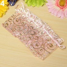 100Pcs Organza Gift Bags Jewellery Christmas Wedding Party Packing Pouches