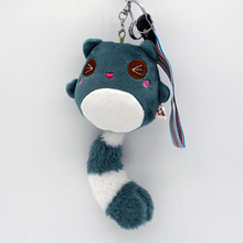 Women pom pom Fur key chain Animal Plush keychain Fashion Phone Key HolderOdd tail bear plush big tail Gift jewelry K1261(China)