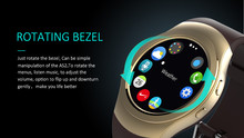 Smart Watch No.1 G3+ Smartwatch AS2 ROTATING BEZEL clock Heart rate monitor TF card for iOS Android samsung gear s3 Sports 360(China)