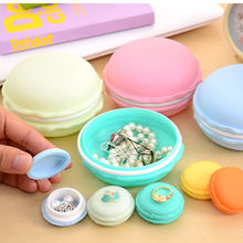 Hot Cute Charm Candy Color Macaron Large Storage Box Earrings Ring Pearl Necklace Jewelry Box Pill Case Birthday Gift