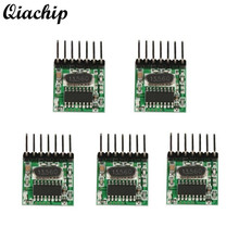 QIACHIP 5pcs 433mhz DC 12V RF Wireless Mini Low Power Light Transmitter Module Remote Control Switch Transmitter Button EV1527(China)