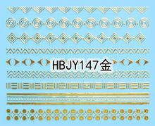 Wholesale price 3D nail stickers Korean new golden nail sticker Nail Decals Lace Pattern  HBJY145-156