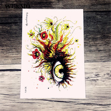Waterproof tattoo custom color colorful fantasy eye personality tattoo stickers manufacturers selling tattoo stickers SC2979(China)