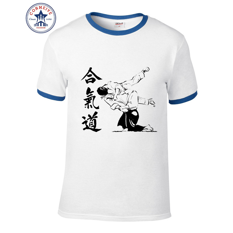 HTB17kz2aaagSKJjy0Fcq6AZeVXaD t shirt aikido 2017 Teenage Youth Funny Cotton for men
