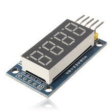 Hot Sale High Quality DIY LED Display Module 4 Bits Digital Tube Circuit Board With Clock For Arduino New Arrival