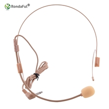 Gold Vocal Wired Headset Microphone Nude Microfone Microfono for Voice Amplifier Speaker Mike With Bright Clear Sound(China)