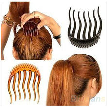 Lady Girl Tools Volume Inserts Hair Clip Hairpins Bumpits Bouffant Ponytail Comb Grips Headwear Ornaments Accessories For Woman(China)