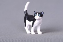 4cm pvc toy Children's cognitive pet cat model hand model doll Decoration gift figure(China)