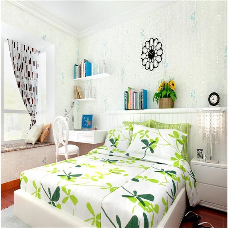 beibehang papel de parede Non woven Korean fresh sweet pastoral wallpaper Romantic flower wall paper pink bedroom papier peint<br>