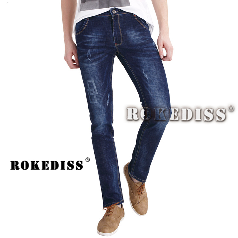mens pants biker warm ripped for Spring and Autumn trousers Leisure Men casual patches brand-clothing B83 skinny jeans denimОдежда и ак�е��уары<br><br><br>Aliexpress