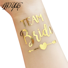 1Pc Gold Team Bride Temporary Tattoo Favor Bachelor Party Bridesmaid fake tattoos sticker Trendy waterproof Supplies Wedding #5