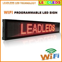 P7.62 Red/Yellow/Green/Blue Indoor Led Display Wifi and U Disk Programmable LED Scrolling Message Sign Advertising Billboard(China)