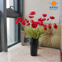 5pcs artificial flower bouquets red color artificial corn poppy flowers bouquets&Papaver rhoeas&Coquelicot bunches