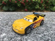 KK01--Original Pixar Car Movie Racer 1:55 Metal Diecast Jeff Gorvette Toy Cars New Loose