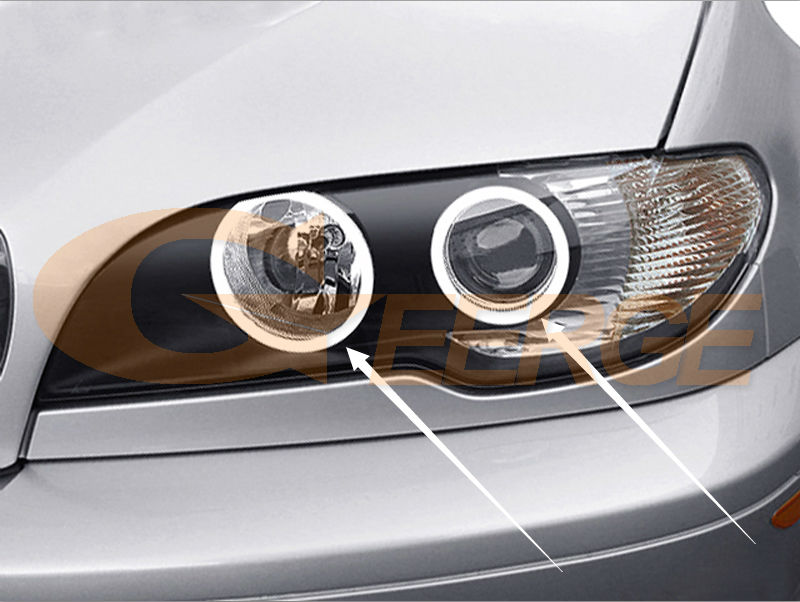 ccfl angel eyes BMW 3 Series E46 Convertible Coupe Cabrio 2004 2005 2006 LCI Xenon Headlight(3)