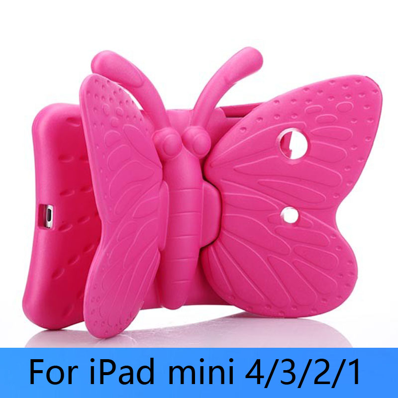 Cartoon Cute Butterfly EVA Foam Soft Stand shockproof drop resistance Cover Case for iPad mini 1/2/3 with wing stand holder<br><br>Aliexpress