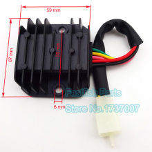 Rectifier Male Plug 5 Pin 5 Wire Voltage Regulator Rectifier For GY6 50cc 125cc 150cc Scooter CG125(China)