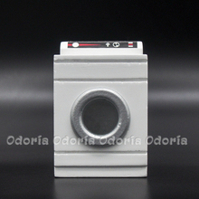 Odoria 1:12 Miniature Front Load Washer White Wooden Dollhouse Decoration Accessories(China)