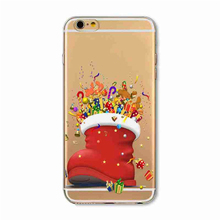 For iphone 4 4s 5 5s SE 5c 6 6s Plus 7 7 Plus Phone Case Christmas Sock Xmas Gift Hard Plastic Case Back Cover