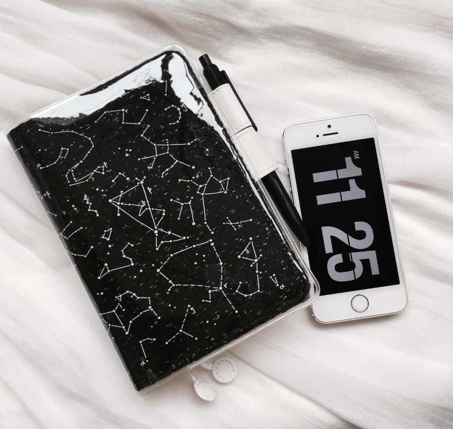 A5 A6 Transparent hobonichi pvc protect cover set notebook  bookbinder's protective case  The Big Dipper constellation