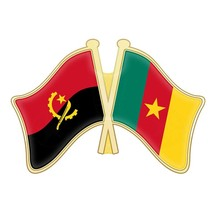 Angola and Burkina Faso Cameroon Cape Verde Cayman Islands Central African Republic Chile China Cuba Friendship Flags Lapel Pins(China)