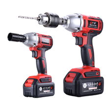 42F Lithium Battery Max Torque 380N.m 8.0h Brushless Electric Impact Wrench DIY Cordless Drill Cordless Wrench