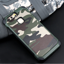 sFor Huawei P10 plus case For Huawei P10 / P10 Lite Phone Cases cover 2in1 Army Camo Camouflage Hard PC + Soft Silicon Cover(China)