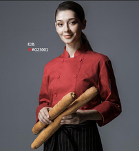 New Cook suit  long-sleeve kitchen chef uniform chef jacket work wear food service working clothes