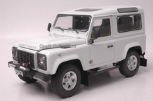Car Model for White 1/18 Rover Defender 90 Kyosho Diecast Alloy Model Car Diecast Miniature Model Children Toys Hot Gifts