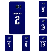 For Samsung Galaxy Grand Prime Phone Case A3 A5 A7 (2016) A8 A9 Shell Note 4 5 7 Transparent Cover Chelsea Football Club Pattern
